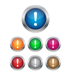 Warning buttons vector image vector image