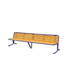 Wooden detailed bench vector