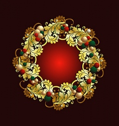 wreath vector image vector image