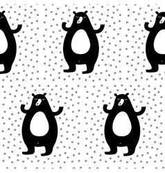 Monochrome cartoon christmas pattern vector
