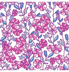 Vibrant field flowers seamless pattern background vector