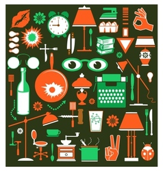 A set of household items vector