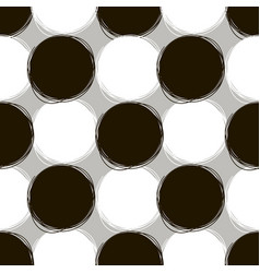 Seamless doodle pattern round doodle patterns of vector