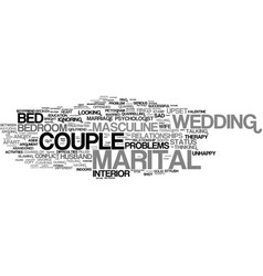 Marital word cloud concept vector
