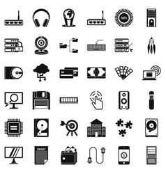 Web progress icons set simple style vector