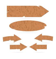 wooden signs arrows signboards vector image