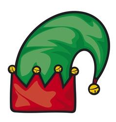 Christmas elf hat vector