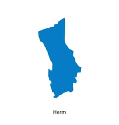 Detailed map of Herm vector image