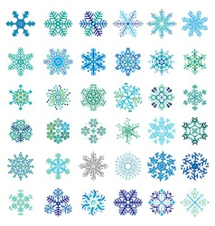Set of snowflakes vector