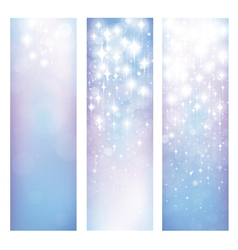 Blue star banners vector