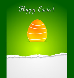 Easter egg green background vector