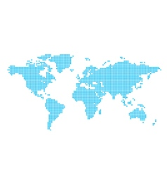 Light blue map of world - circles vector