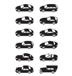Modern cars from above vector