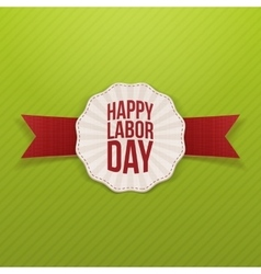 Happy labor day paper white banner vector