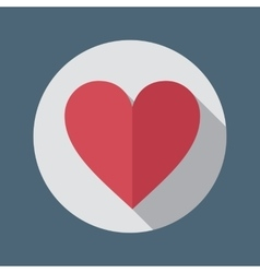 Red heart flat icon vector