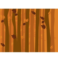 Autumn leaf and tree background vector image vector image