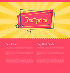 best prices only best deals special offer sale vector image