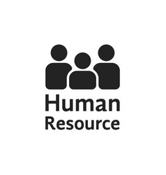 black simple human resource logo vector image