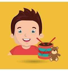 boy toys happy cartoon vector image