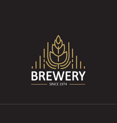 Brewery beer house label vector