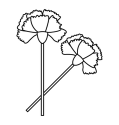 Carnation icon outline style vector