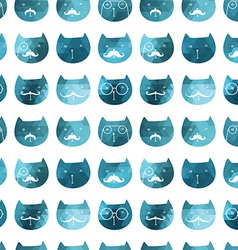 cats seamless pattern triangle cats Abstract ca vector image