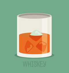 Colorful whiskey icon drink flat design vector