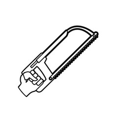 Coping saw carpentry tool vector