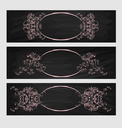 Design element beauty decorative frame for text vector
