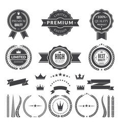 design template of premium badges or logos vector image vector image