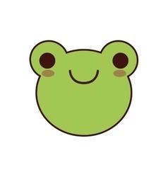 Frog kawaii cute animal icon vector