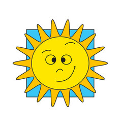 funny sun vector image vector image