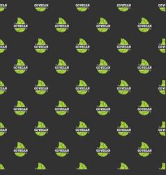 go vegan seamless pattern vector image vector image
