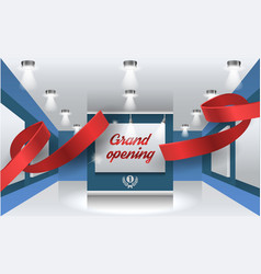 grand opening background with vector image