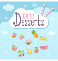 Heavenly deserts logo concept vector image vector image