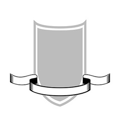 Isolated Heraldry Shield vector image