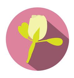 Isolated wedding flower vector