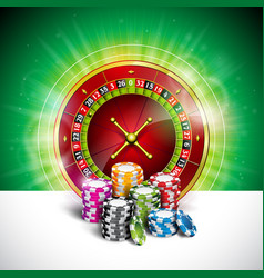 on a casino theme with color playing chips and vector image vector image