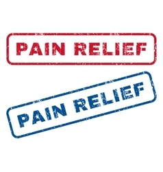 Pain relief rubber stamps vector
