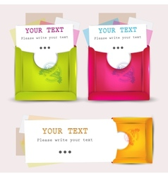 paper envelopes set vector image