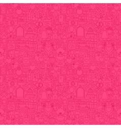 Pink Line Wedding Seamless Pattern vector image