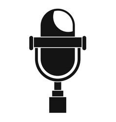 Retro microphone icon simple style vector