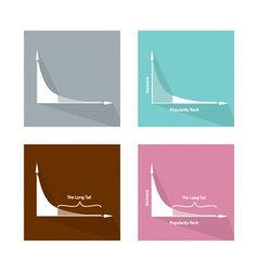 Set of fat tailed and long tailed distributions vector