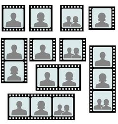 set photo frames picture slide vector image
