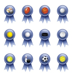 Sports Award Ribbons vector image vector image