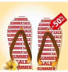 Summer sandal 01 vector