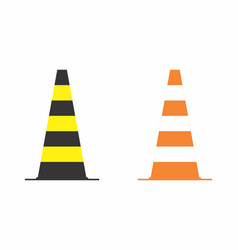 two traffic cones vector image