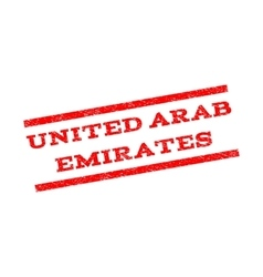 United arab emirates watermark stamp vector