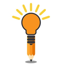 Vertical oriented pencil light bulb Creative idea vector image