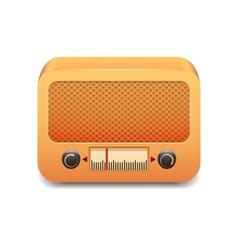 Vintage wooden radio vector image